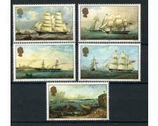1985 - LOTTO/13381 - JERSEY - DIPINTI DI VELIERI 5v. - NUOVI