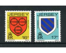 1985 - LOTTO/13385 - JERSEY - STEMMI ARALDICI 2v. - NUOVI