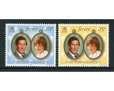 1981 - LOTTO/13389 - JERSEY - NOZZE REALI 2v. - NUOVI