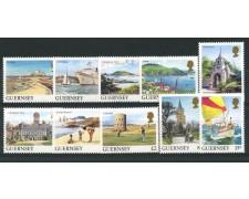 1985 - LOTTO/13412 - GUERNSEY - VEDUTE 10v.