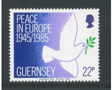 1985 - LOTTO/13413 - GURNSEY - PACE IN EUROPA 1v.
