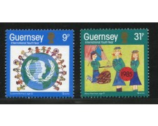 1985 - LOTTO/13415 - GUERNSEY - ANNO DELLA GIOVENTU' 2v.