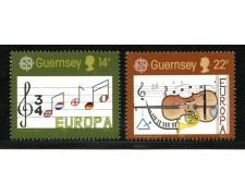 1985 - LOTTO/13416 - GUERNSEY - EUROPA ANNO DELLA MUSICA 2v.
