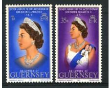 1977 - LOTTO/13422 - GUERNSEY - GIUBILEO REGINA 2v.