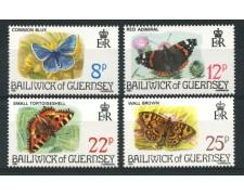1981 - LOTTO/13423 - GUERNSEY - FARFALLE  4v.