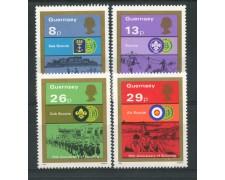 1982 - LOTTO/13431 - GUERNSEY - MOVIMENTO SCOUTS 4v.