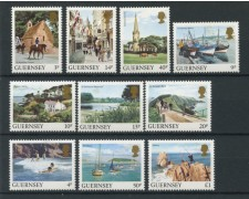 1984 - LOTTO/13434 - GUERNSEY - VEDUTE  10v.