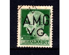 1945 - LOTTO/13461 - VENEZIA GIULIA - 20 LIRE IMPERIALE - USATO