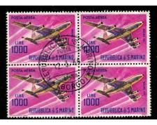 1964 - LOTTO/13472 - SAN MARINO - 1000 LIRE AEREO BLOCCO - USATO