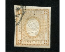 1862 - LOTTO/13501 - REGNO - 2c. CIFRA IN RILIEVO - USATO