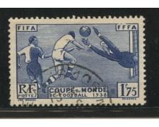 1938 - LOTTO/13508 - FRANCIA - MONDIALI DI CALCIO - USATO