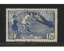 1938 - LOTTO/13509 - FRANCIA - MONDIALI DI CALCIO - USATO