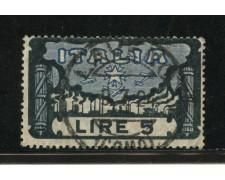 1923 - LOTTO/13510 - REGNO - 5 LIRE MARCIA SU ROMA  - USATO