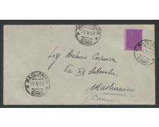 1957 - LOTTO/13515 - REPUBBLICA - 25 LIRE SIRACUSANA VARIETA' SU BUSTA