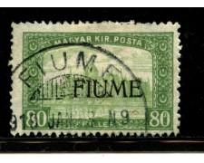 1918/19 - LOTTO/13517 - FIUME - 80f.  VERDE - USATO