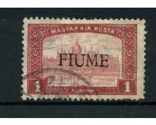 1918/19 - LOTTO/13518 - FIUME - 1 K. CARMINIO E ROSA - USATO