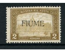 1918/19 - LOTTO/13520 - FIUME - 2K. BISTRO VEDUTA - LING.