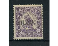 1918/19 - LOTTO713521 - FIUME - 15+2 f. VIOLETTO - LING.