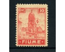 1919 - LOTTO13522 - FIUME - 10c. CARMINIO ROSA - LING.