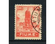 1919 - LOTTO/13523 - FIUME - 10c. CARMINIO ROSA - USATO