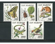 1990 - LOTTO/13580 - SAN MARINO - FLORA E FAUNA 5v. - NUOVI