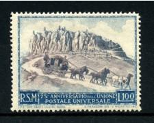 1949 - LOTTO/13624 - SAN MARINO - 75° ANNIVERSARIO U.P.U. - LING.