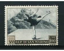 1953 - LOTTO/13626 - SAN MARINO - 100 LIRE PATTINAGGIO - LING.