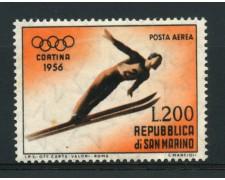 1955 - LOTTO/13629 - SAN MARINO - 200 Lire CORTINA POSTA AEREA - LING.