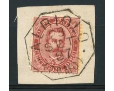 1879 - LOTTO/13639 - REGNO - 10c. ANNULLO OTTAGONALE ALBIOLO