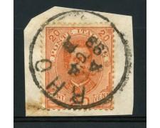 1891 - LOTTO/13640 - REGNO - 20c. ARANCIO  ANNULLO RHO