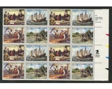 1992 - LOTTO/13754QN - STATI UNITI - SCOPERTA DELL'AMERICA 4v. - QUARTINA