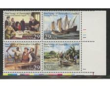 1992 - LOTTO/13754 - STATI UNITI - SCOPERTA DELL'AMERICA 4v. - NUOVI