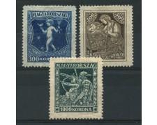 1924 - LOTTO/13813 - UNGHERIA - PRO ANTITUBERCOLOSI 3v. - LING.