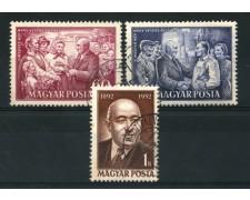 1952 - LOTTO/13864 - UNGHERIA - PRESIDENTE RAKOSI 3v. -  USATI