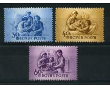 1954 - LOTTO/13866 - UNGHERIA - GIORNATA DELLA DONNA 3v. -  NUOVI