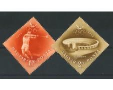 1952 - LOTTO/13882 - UNGHERIA - POSTA AEREA OLIMPIADI 2v. - NUOVI