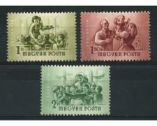 1954 - LOTTO/13888 - UNGHERIA - P.AEREA  GIORNATA DONNA 3v. - NUOVI