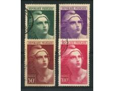 1945 - LOTTO/13942 - FRANCIA - MARIANNA GRANDE FORMATO 4v. - USATI