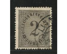 1882/87 - LOTTO/13943 - PORTOGALLO - 2r. NERO - USATO
