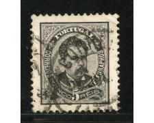 1882/87 - LOTTO/13943 - PORTOGALLO - 5r. NERO GRIGIO - USATO