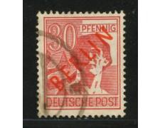1949 - LOTTO/13959 - BERLINO - 30p. ROSSO - USATO