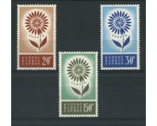 1964 - LOTTO/13963 - CIPRO - EUROPA 3v . - NUOVI