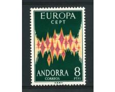 1972 - ANDORRA SPAGNOLA - LOTTO/14004 - EUROPA 1v. - NUOVO