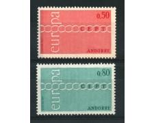 1971 - ANDORRA FRANCESE - LOTTO/14006 - EUROPA 2v. - NUOVI