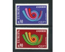 1973 - ANDORRA FRANCESE - LOTTO/14007 - EUROPA 2v. - NUOVI