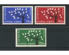 1962 - LOTTO/14012 - CIPRO - EUROPA  ALBERO 3v. - NUOVI