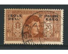 1932 - LOTTO/14069 - EGEO - 20c. PRO DANTE ALIGHIERI - USATO