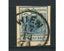 1850 - LOTTO/14104 - AUSTRIA - 9 Kr. AZZURRO - USATO