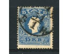 1859 - LOTTO/14109 - AUSTRIA - 15 Kr. AZZURRO - USATO