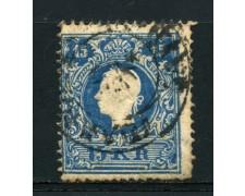 1859 - LOTTO/14112 - AUSTRIA - 15 Kr. AZZURRO - USATO